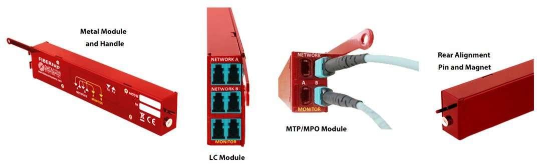 Modular fiber tap components